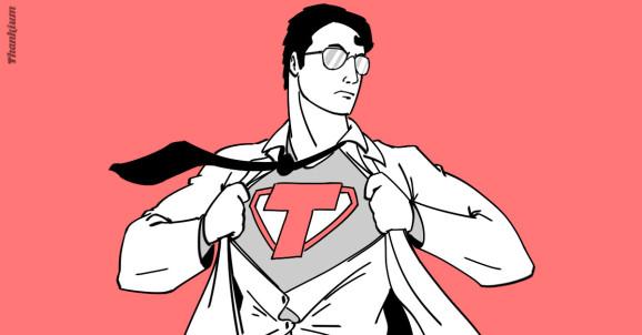 Ilustración del bueno de Superman de la agencia Thankium