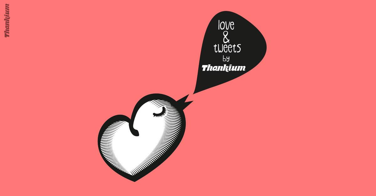 Ilustración Love and twets de la agencia de publicidad Thankium