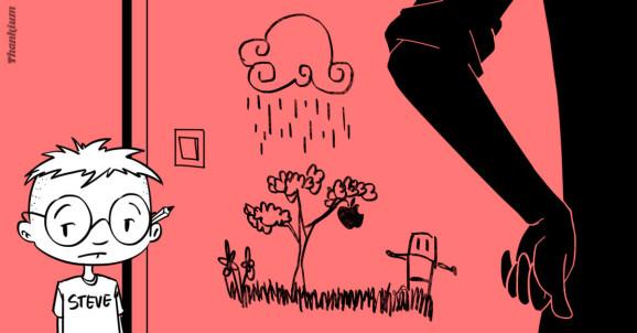 Ilustración agencia Thankium. Nunca subestimes el garabato de un niño