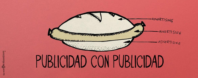 Ilustración publicidad con publicidad. Thankium