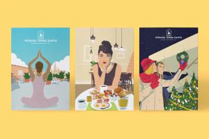 ilustraciones-posada-terra-santa-yoga-desayuno-navidad