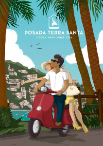 inbound-marketing-posada-terra-santa-ilustracion-vespa-thankium-agencia-publicidad