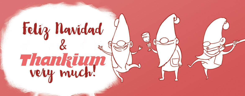 Ilustración duende de navidad de la agencia de publicidad Thankium