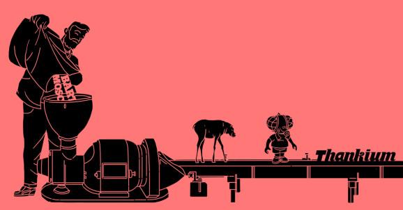 Ilustración Thankium agencia de publicidad, inventar palabras