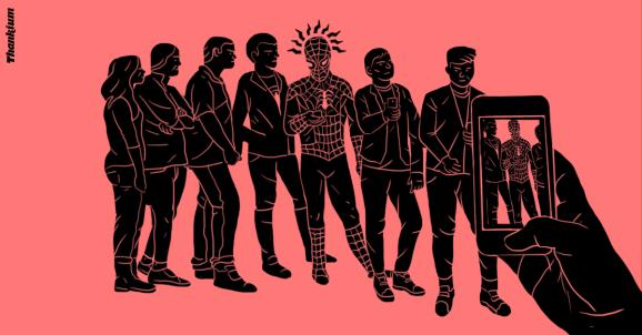 Ilustración Thankium el súperpoder de las redes sociales