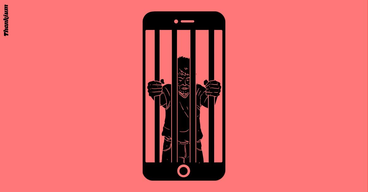 Ilustración Thankium, nomofobia
