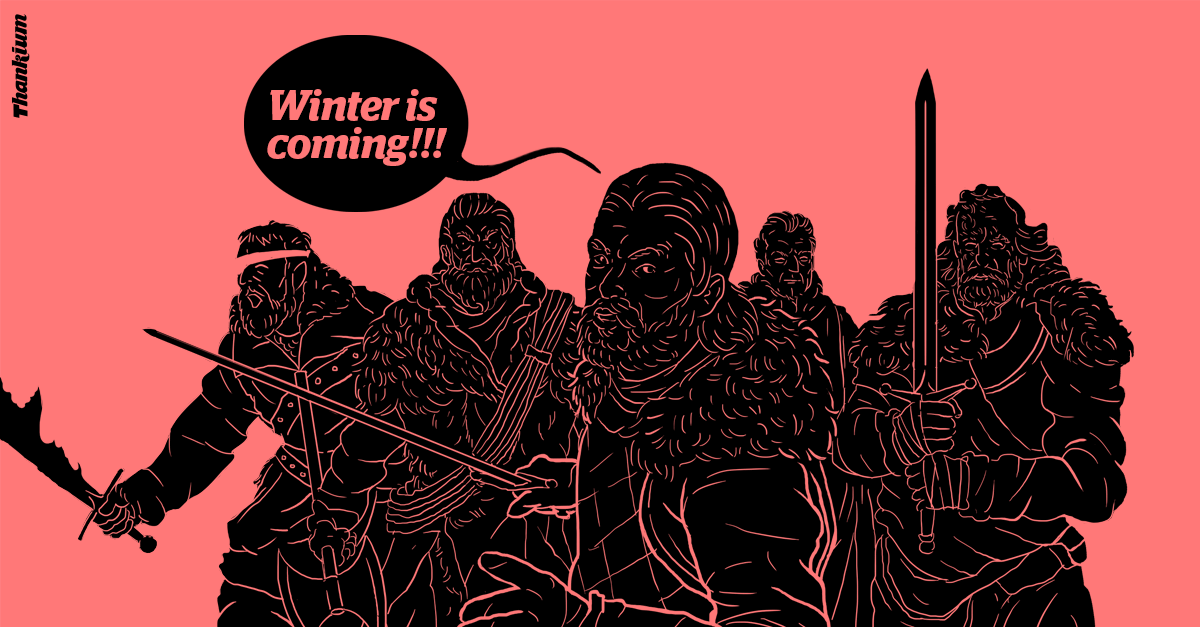 ilustración thankium agencia de publicidad eslogan las palabras mágicas winter is coming