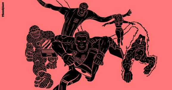 Ilustración de Thankium. Estudiar publicidad y convertirse en uno de los cinco fantásticos