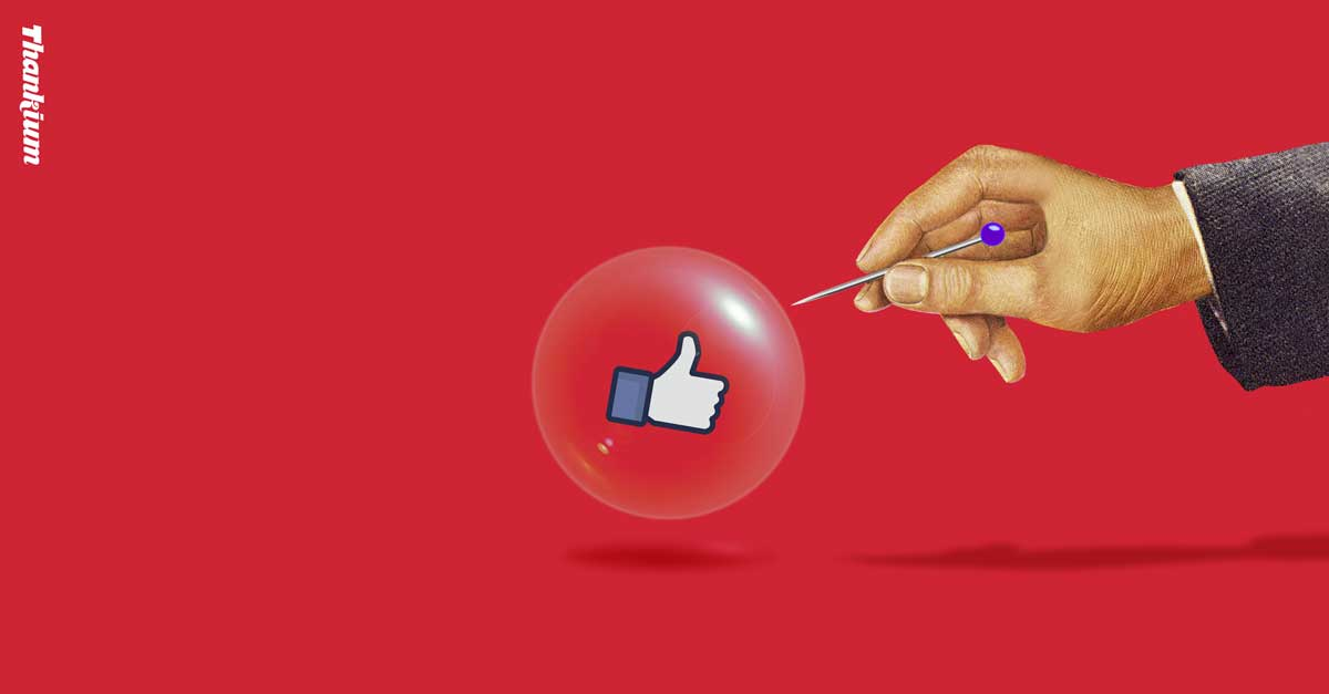 Ilustración Thankium Agencia Publicidad influencers burbuja a punto de explotar