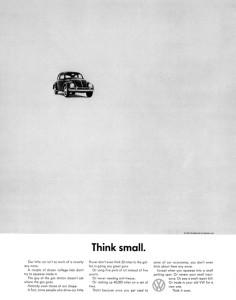 volkswagen beetle think small campaña de publicidad