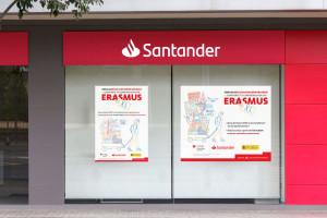 campana-banco-santander-erasmus-oficina-cartel