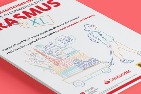 Campaña de publicidad Banco Santander Erasmus Portada