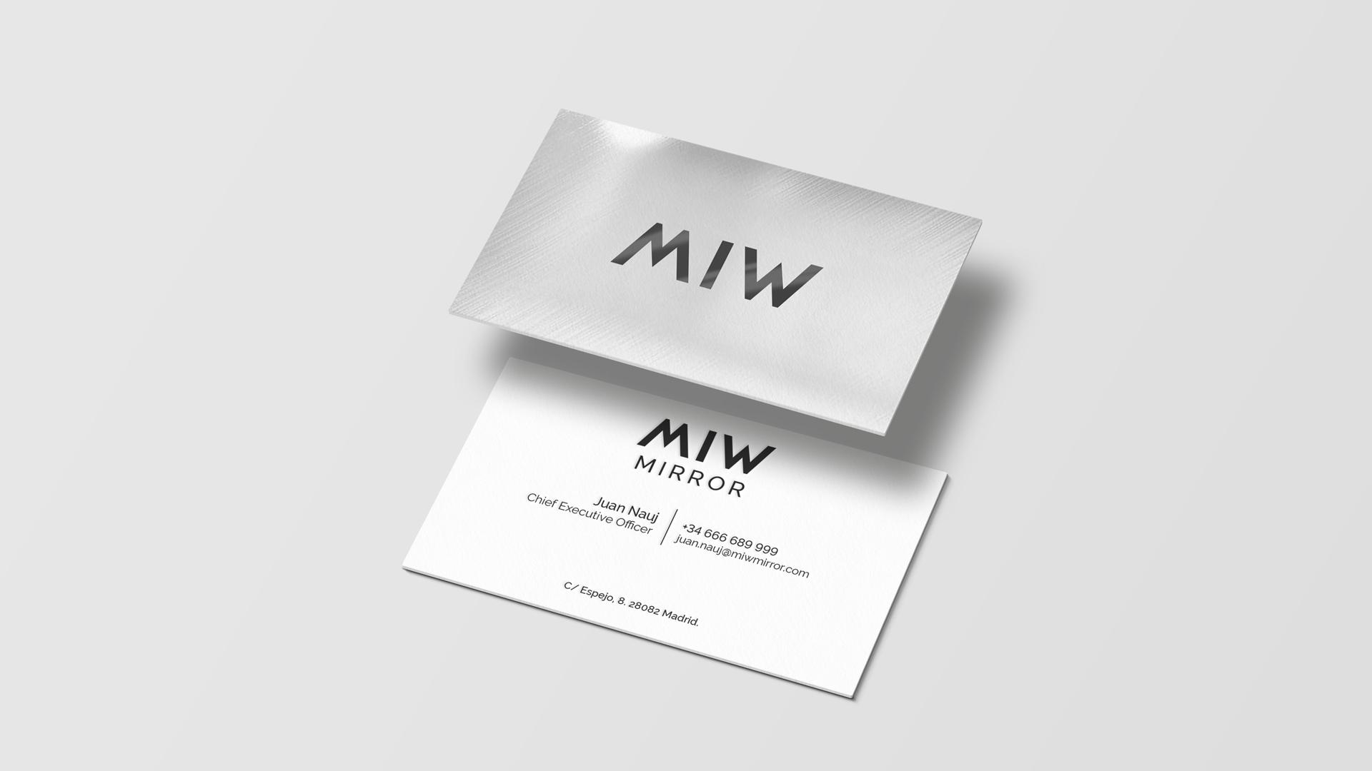 creacion-de-marca-branding-miw-tarjeta-de-visita-efecto-espejo-mirror